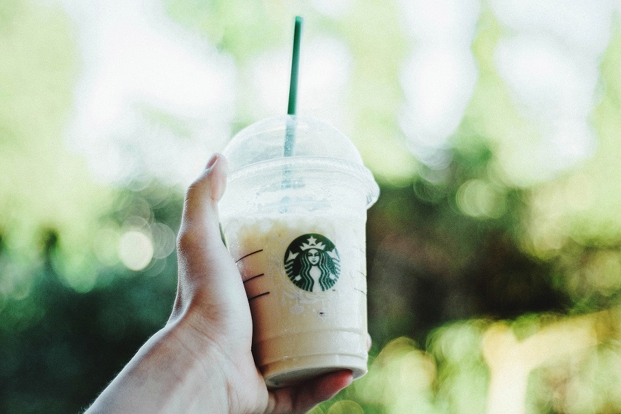 Starbucks No Coffee Copycat Drink Recipes Person Holding a Starbucks Cup