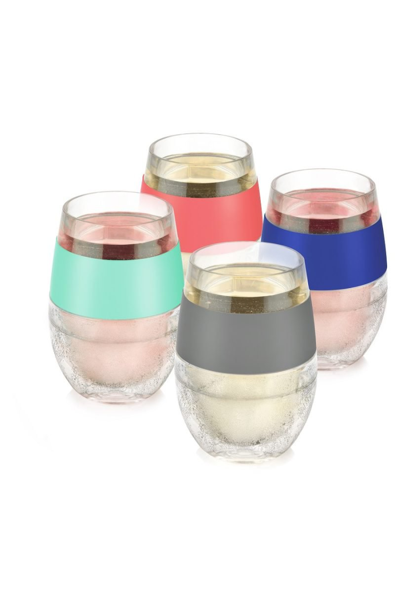 Wine FREEZE Cooling Cups Assorted Colors