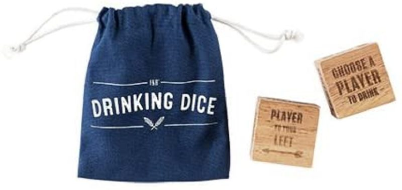 Bring this wood drinking dice set game to your next party. They guarantee more fun, and more drinking. How can you go wrong? Drinking Game Ideas | Drinking Games for Adults | Party Planning | Party Games with Alcohol | Drinking Games | DIY Party Ideas #partyideas #partyplanning