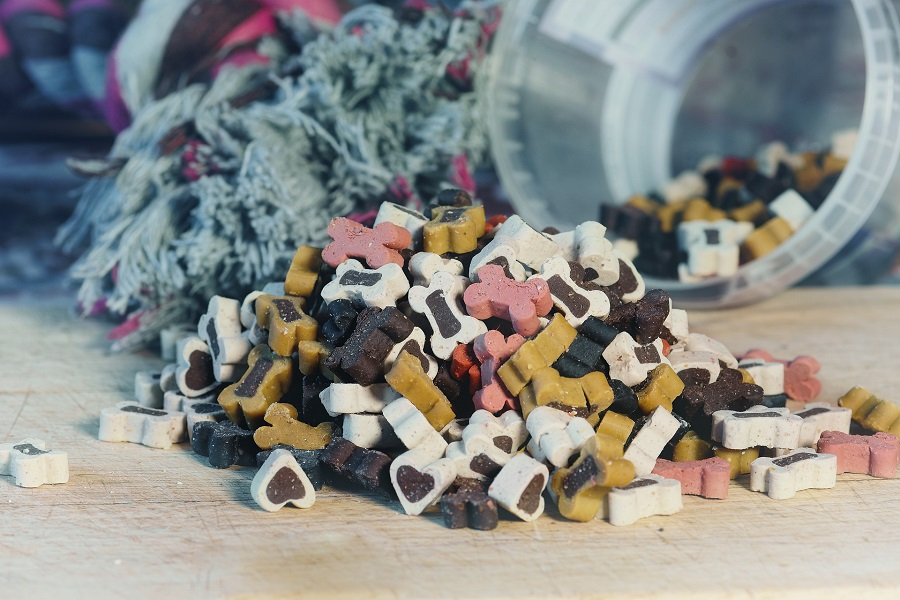 Pet Food Storage Ideas for Kitchens Pet Treats Spilling Out of a Container