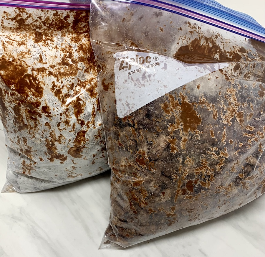 Halloween Puppy Chow Recipe Chex Mix in a Bag Covered in Chocolate