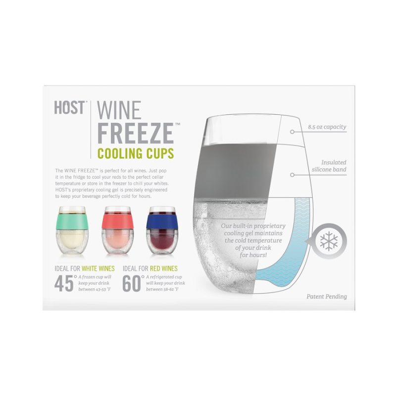 Wine FREEZE Cooling Cups Diagrams