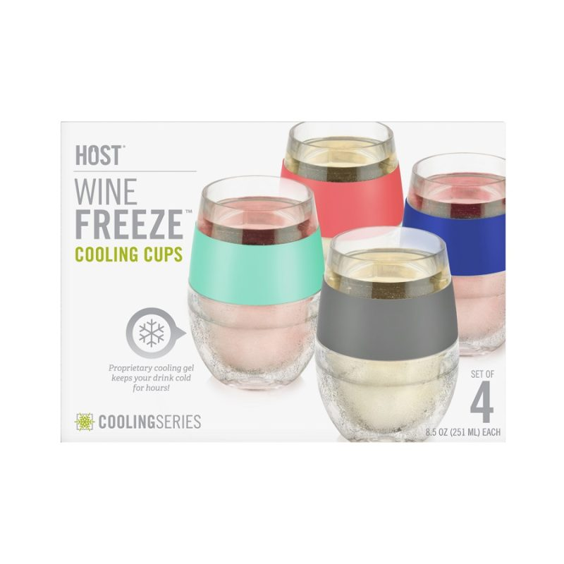 Wine FREEZE Cooling Cups Packaging