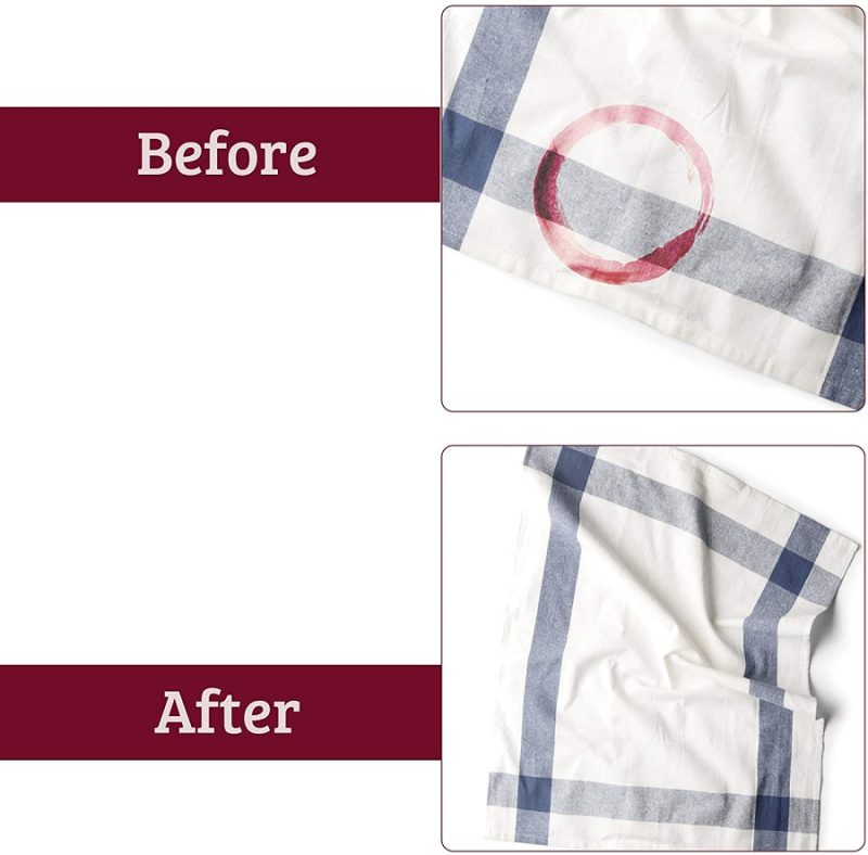 Before and After Wine Away Stain Remover
