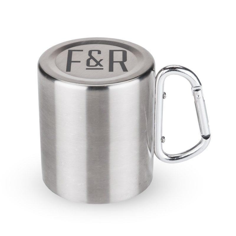 Carabiner Travel Mug Turned Upside Down
