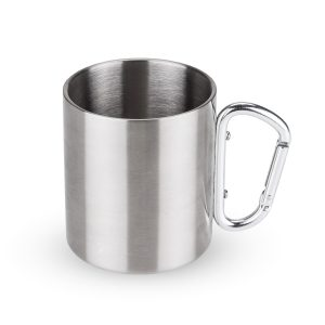Carabiner Travel Mug Against a White Background