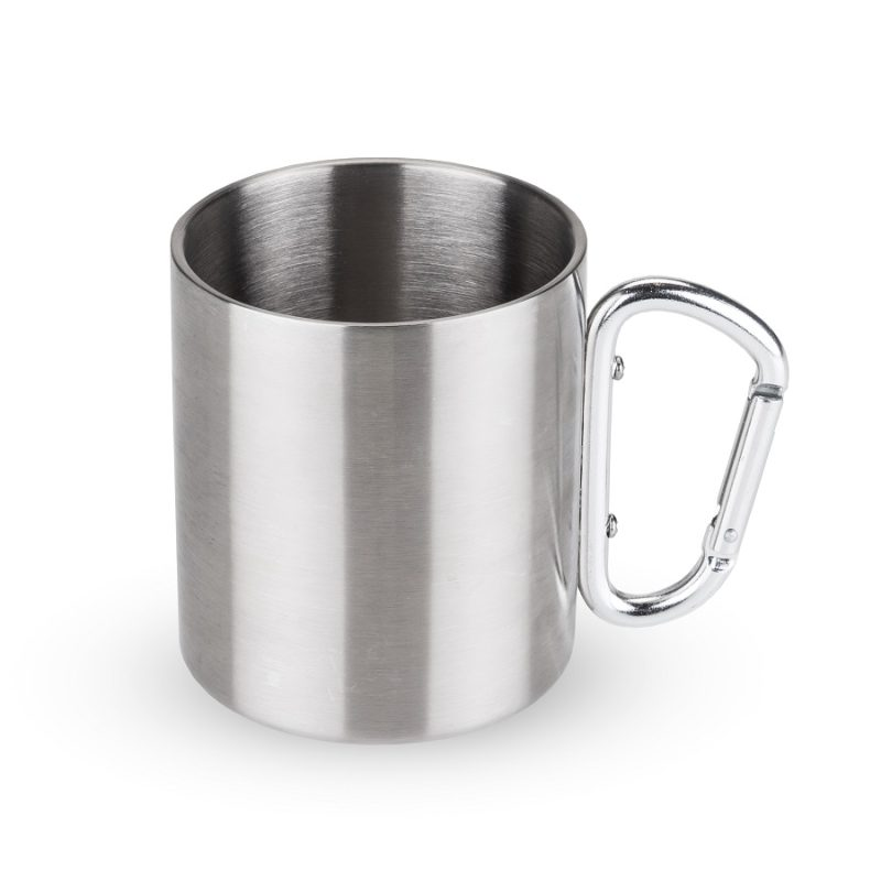 Carabiner Travel Mug Against a White Background