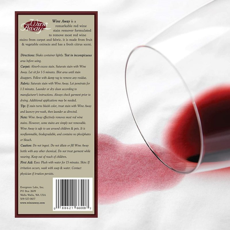 Wine Away Stain Remover Directions