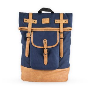 Insulated Canvas Cooler Adventure Backpack Front View