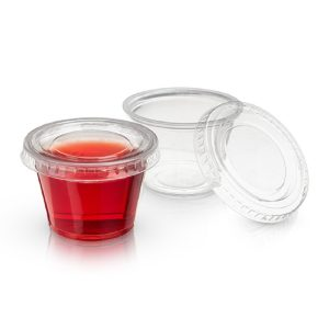 Jello Shot Cups Two Jello Shot Cups with Lids