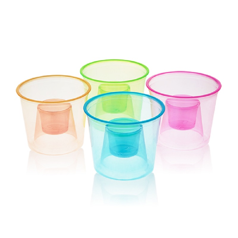 Neon bomber cups Four Neon Bomber Cups Against a White Background