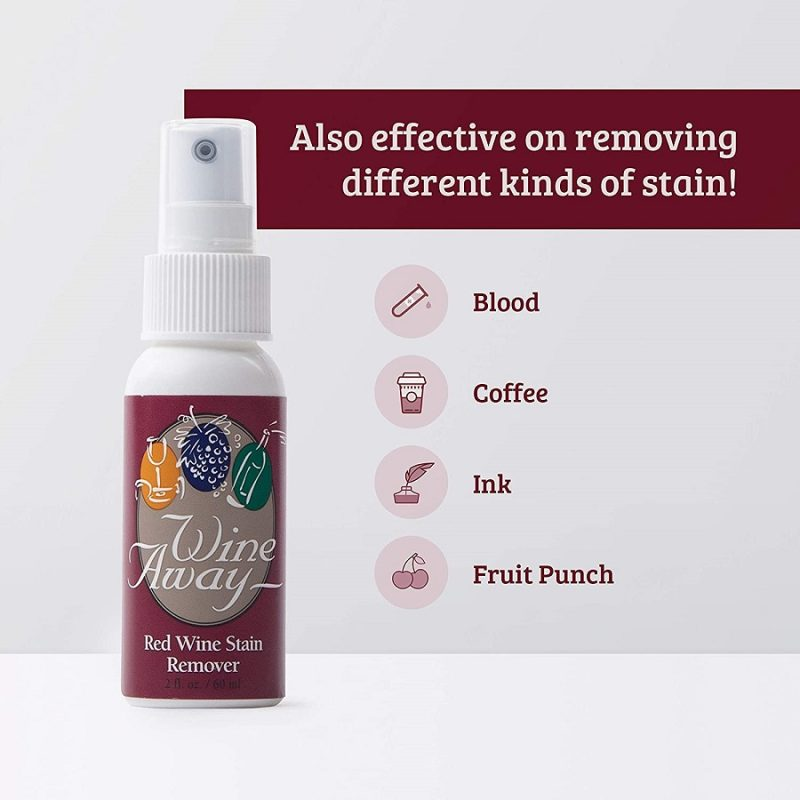 Infographic On What Wine Away Stain Remover Removes