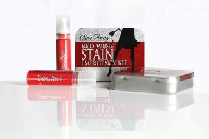 Wine Away Stain Remover Emergency Kit Against a White Background