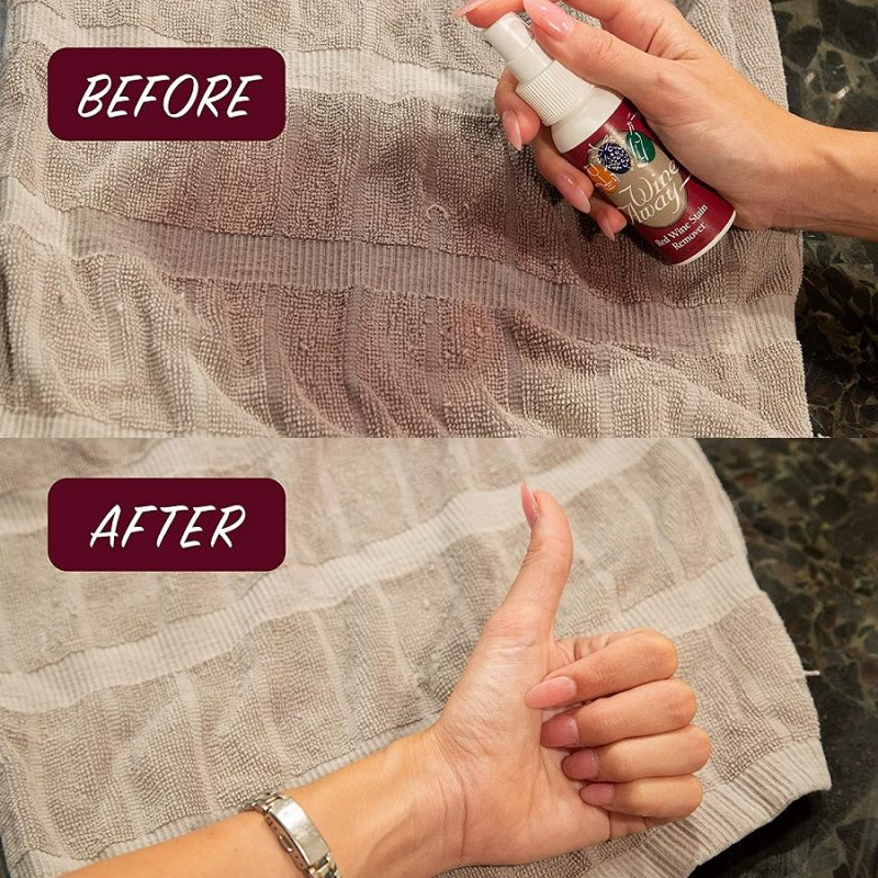 Wine Away Stain Remover on a Towel