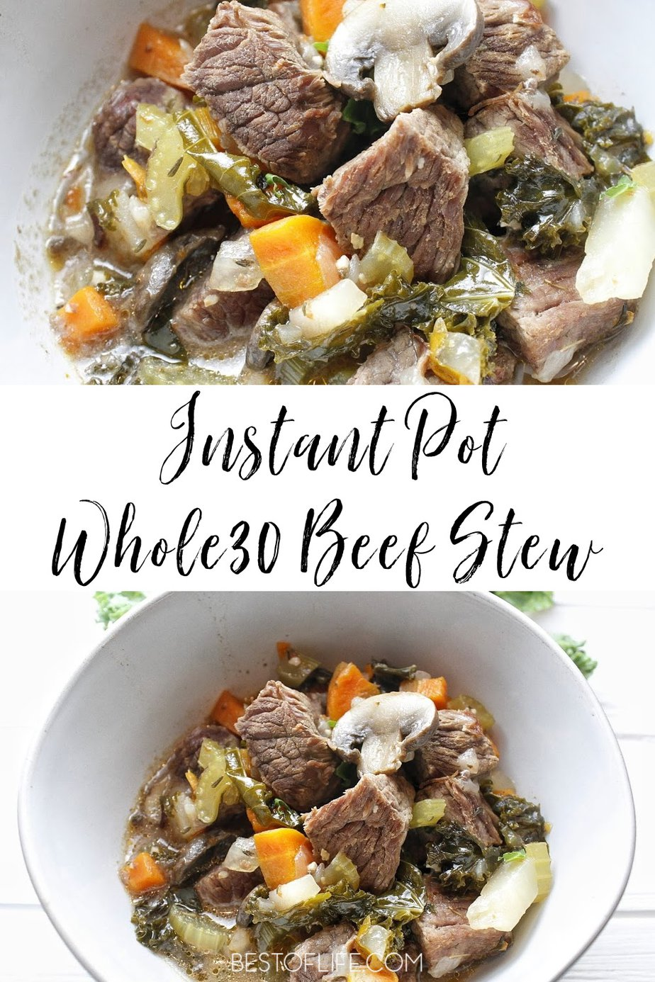 Whole30 Instant Pot beef stew is one a healthy meal that just brings feelings of warmth and comfort. Instant Pot Stew Recipes | Instant Pot Recipes with Beef | Beef Instant Pot Recipe | Instant Pot Soup Recipes | Instant Pot Stew Meat | Stew Meat Recipe | Beef Stew Recipe Pressure Cooker #instantpot #beef via @thebestoflife