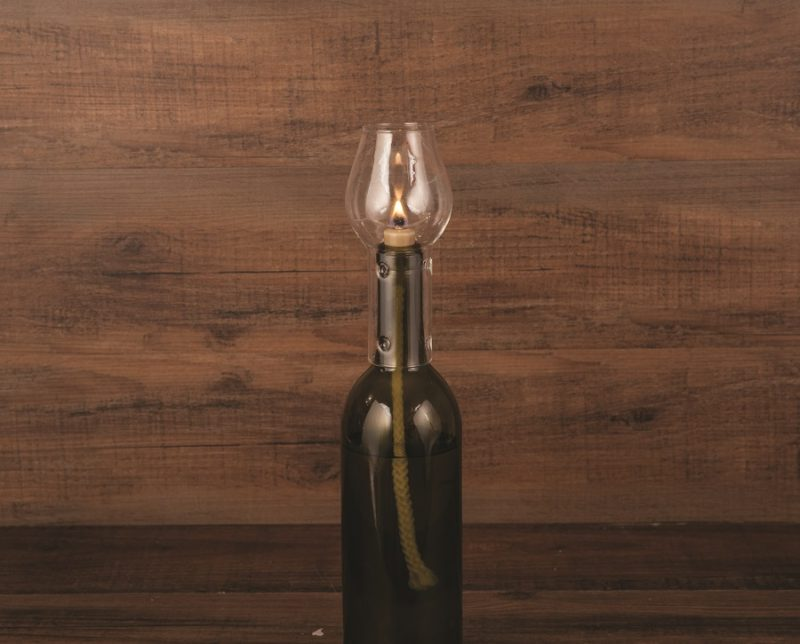 Transform your empty bottle of wine into a romantic, soft glowing hurricane bottle lamp. This glass chimney is elegant looking and makes for a great gift for wine lovers. Wine DIY Crafts   Wine Bottle DIY Crafts   DIY Wine Bottle Ideas   Romantic Dinner Tips   Date Night Ideas   DIY Home Décor   Date Night Tips #wine #DIY