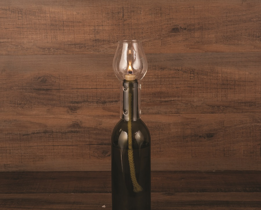 Transform your empty bottle of wine into a romantic, soft glowing hurricane bottle lamp. This glass chimney is elegant looking and makes for a great gift for wine lovers. Wine DIY Crafts   Wine Bottle DIY Crafts   DIY Wine Bottle Ideas   Romantic Dinner Tips   Date Night Ideas   DIY Home Décor   Date Night Tips #wine #DIY via @thebestoflife