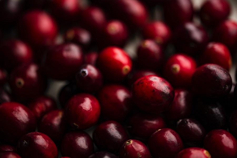 Instant Pot Cranberry Sauce Recipes Close Up of Cranberries