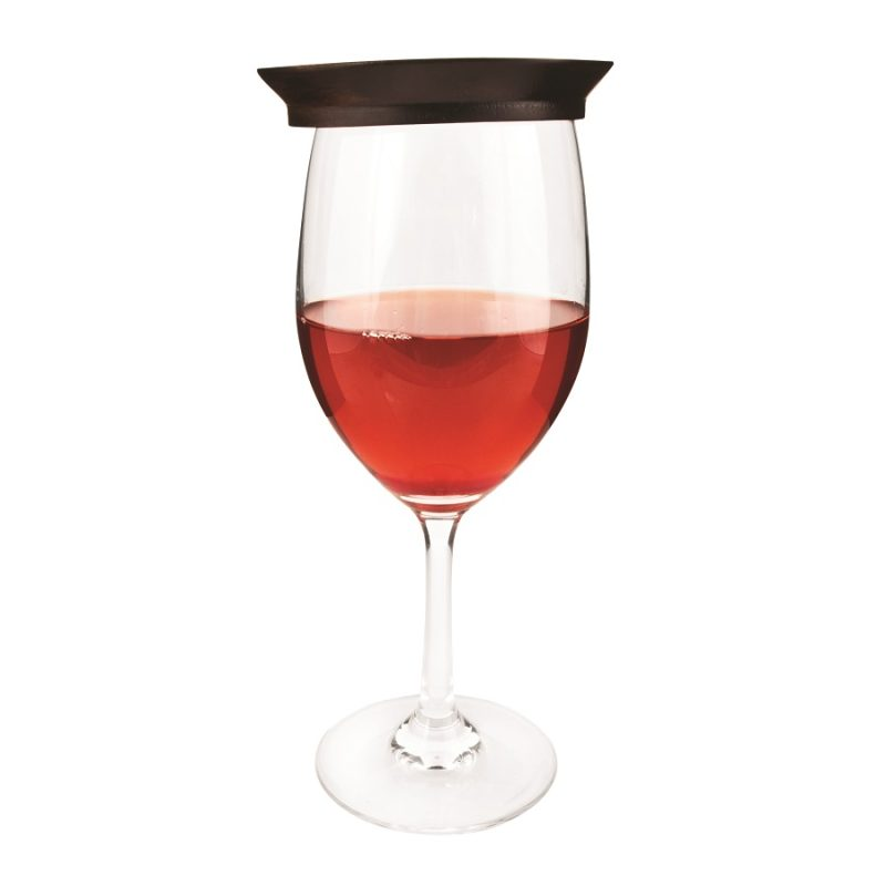 Wine Glass Topper Appetizer Plates Side View