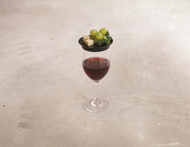 Wine Glass Topper Appetizer Plates With Grapes On Top