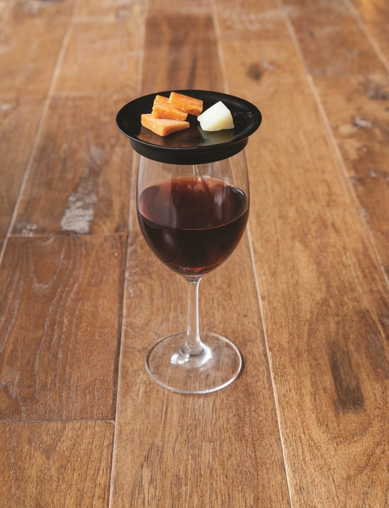Wine Glass Topper Appetizer Plates with Cheese