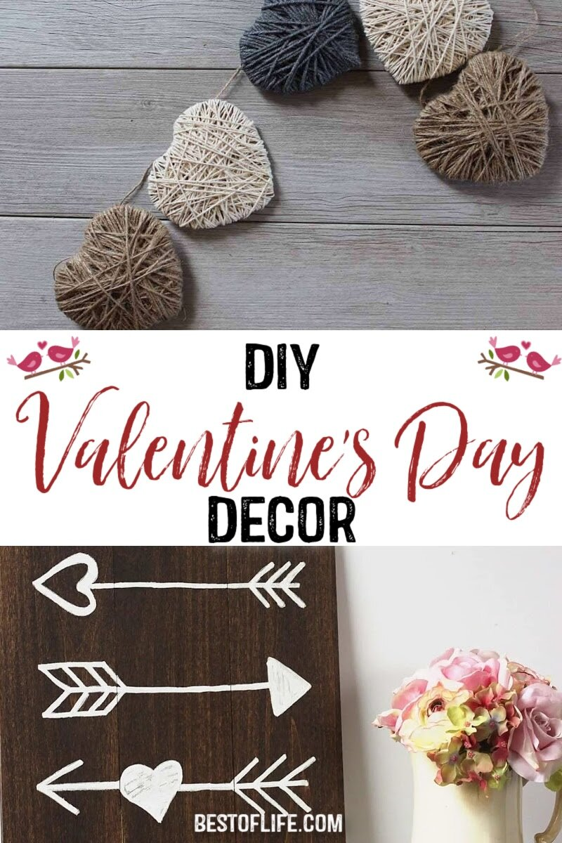 DIY Valentine's Day decorations for the home can help you celebrate your love for weeks instead of just for one day. Valentine's Day Crafts | Valentine's Day Wreath | DIY Valentines Décor | Valentine's Day Ideas for Home | DIY Valentines Decorations Dollar Stores | DIY Home Décor Valentines Day #valentinesday #DIY via @thebestoflife