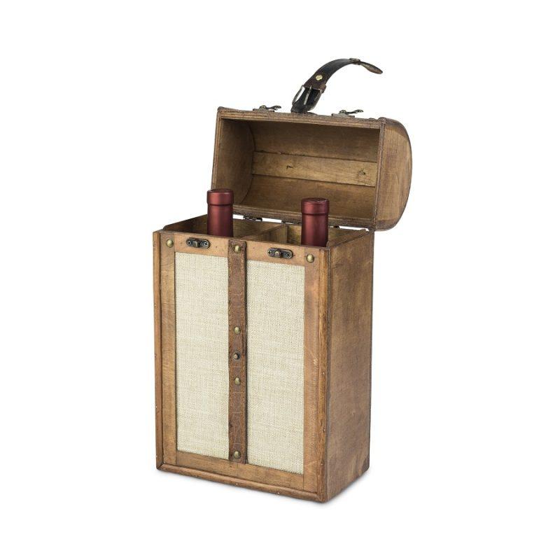 Vintage Trunk Wine Box Opened Wine Box