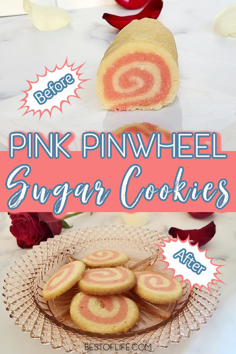 Use a little swirl of pink in these easy pink pinwheel sugar cookies recipe to help you celebrate baby showers and gender reveals. These cookies are an easy dessert recipe that will curb that sweet tooth! Sugar Cookies Decorated | Sugar Cookies with Sprinkles | Sugar Swirl Cookies | Christmas Swirl Sugar Cookies | Baby Shower Recipes | Birthday Party Cookies | Easy Dessert Recipes #cookierecipes #partyfood via @thebestoflife