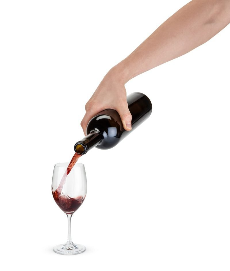 Shatterproof Plastic Wine Glass Person Pouring Red Wine into the Wine Glass
