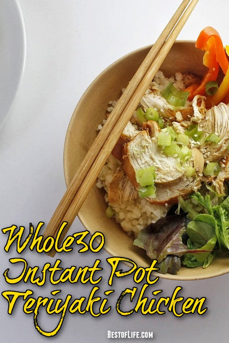 Whole30 Instant Pot teriyaki chicken is not only a healthy recipe for weight loss, but also versatile and can be served different ways for an easy healthy dinner. Teriyaki Chicken Instant Pot | Instant Pot Chicken Recipes | Pressure Cooker Chicken Recipes | Whole30 Recipes with Chicken | Whole30 Instant Pot Recipes | Easy Dinner Recipes | Healthy Dinner Ideas #dinnerrecipes #instantpot via @thebestoflife