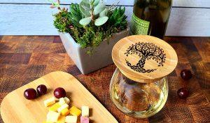Celtic Tree on Irish Wine Glass Toppers