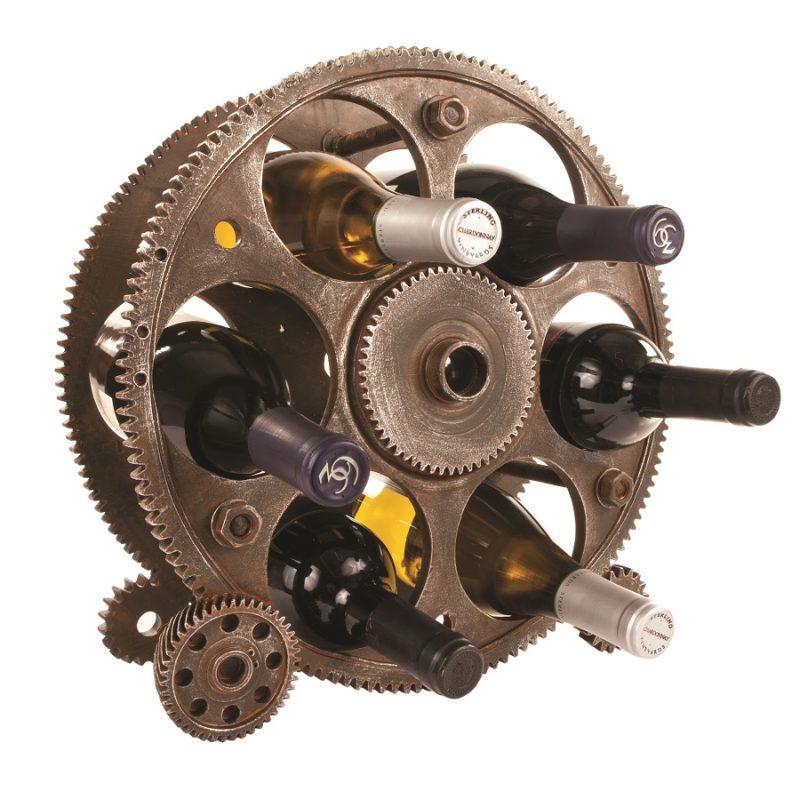 Angled High Gear Wine Rack