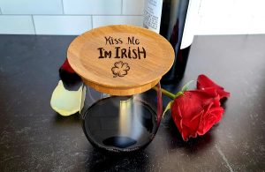 Kiss Me Im Irish Wine Glass Toppers