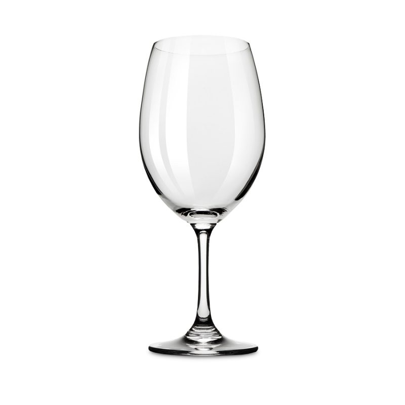 Shatterproof Plastic Wine Glass Against a White Background