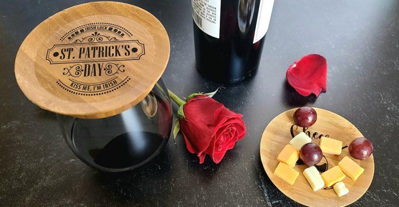 St Patricks Day Irish Wine Glass Toppers