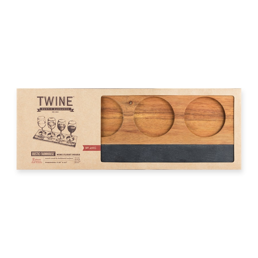 Take your wine serving to the next level with a wooden wine flight board and slate so you can serve guests their wine and appetizers in style. Wine Party Ideas | Hosting a Wine Party | Wine Serving Tray | Tips for Serving Wine Flights | Adult Party Ideas | Gifts for Wine Lovers | Tips for Hosting Wine Parties #wine #partyplanning via @thebestoflife