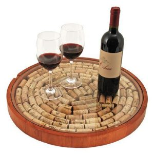 You've Got a Problem Lazy Susan Tray Filled with Corks