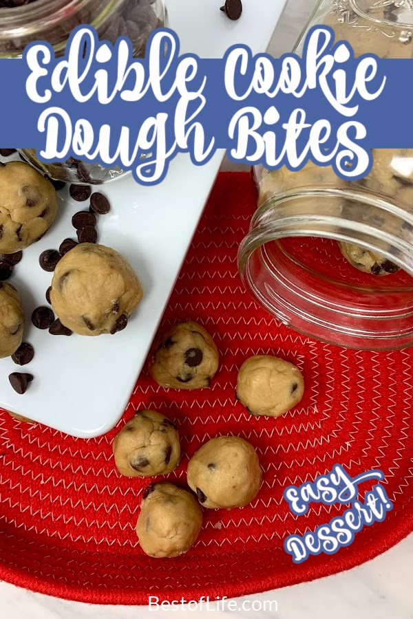 The best edible cookie dough bites recipe takes everything you love about cookies and puts it into a bite sized dessert recipe. Edible Cookie Dough for One | Edible Chocolate Chip Cookie Dough | Eggless Cookie Dough | Chocolate Chip Cookies | Party Food Recipes | Easy Dessert Recipes #cookiedough #dessertrecipes via @thebestoflife