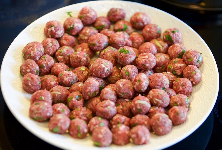 Instant Pot Party Meatballs Recipes Large Amount of Tiny Meatballs on a Platter