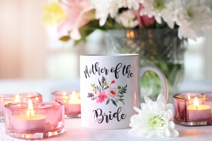 Entertaining Bridal Shower Games Close Up of a Mug That Says Mother of the Bride
