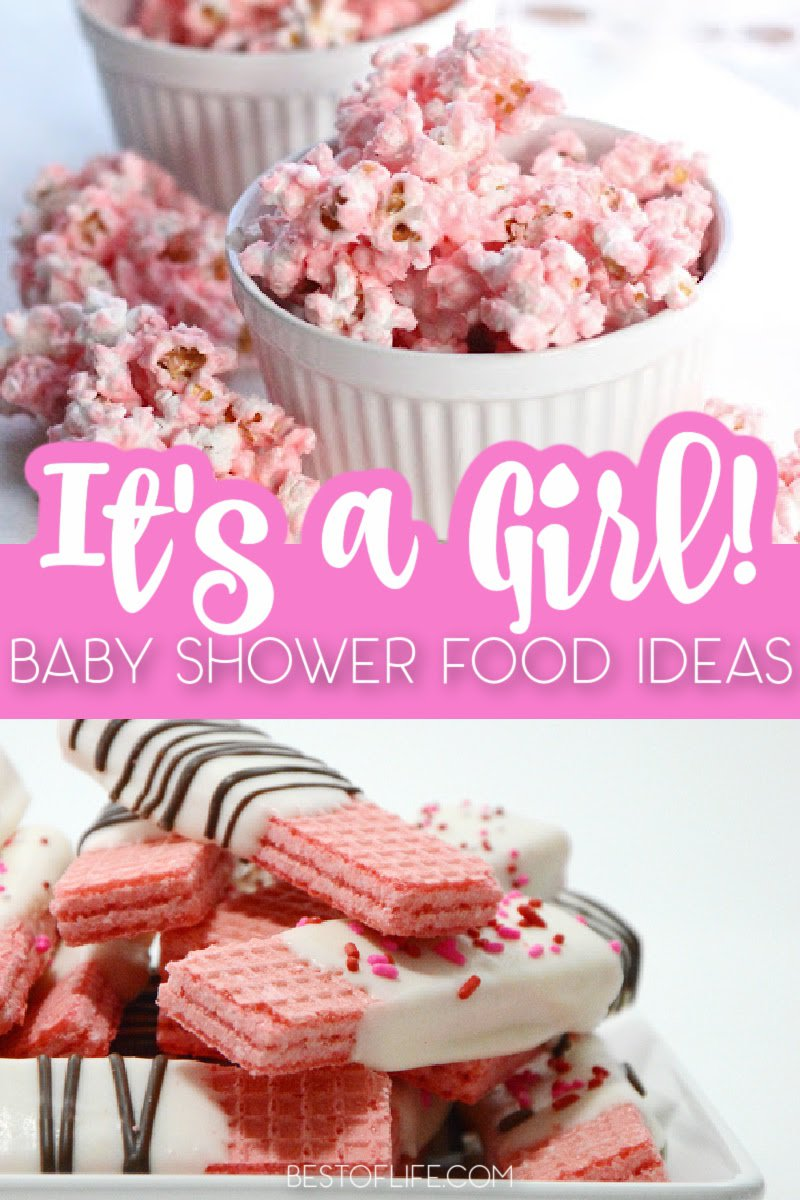There are many things that make a baby shower even more memorable and baby shower food ideas for a girl are among the top three. Baby Shower Ideas | Best Baby Shower Ideas | DIY Baby Shower Ideas | Easy Baby Shower Ideas | Best Baby Shower Recipes | Recipes for Baby Showers | Pink Foods for Baby Showers #babyshower #partyrecipes via @thebestoflife