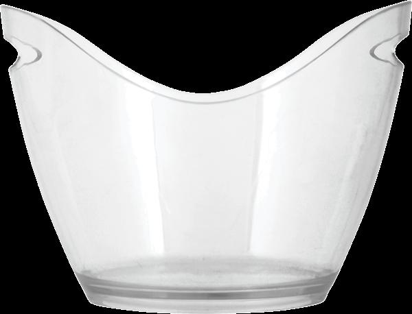 CHILL 4 Bottle Modern Ice Bucket Empty Bucket Against a White Background
