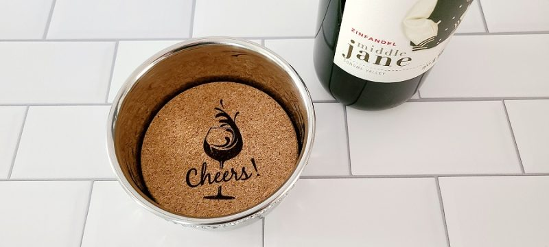 Stainless Steel Wine Bottle Coaster Cheers Splash