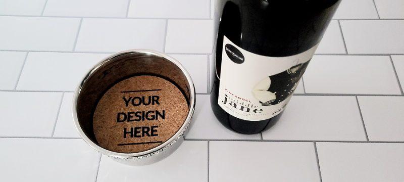 Stainless Steel Wine Bottle Coaster Custom
