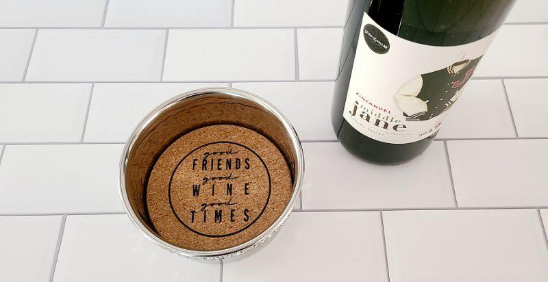 Stainless Steel Wine Bottle Coaster Good Friends