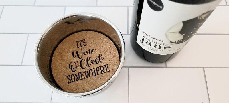 Stainless Steel Wine Bottle Coaster It's Wine O'Clock
