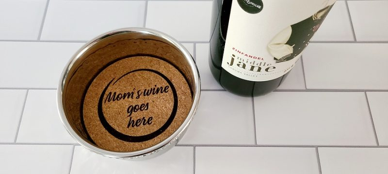 Stainless Steel Wine Bottle Coaster Mom's Wine