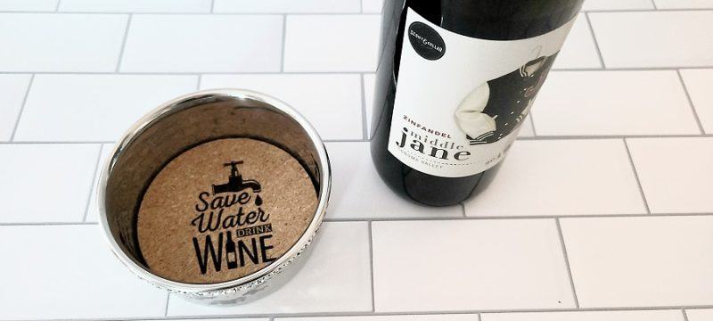 Stainless Steel Wine Bottle Coaster Save Water