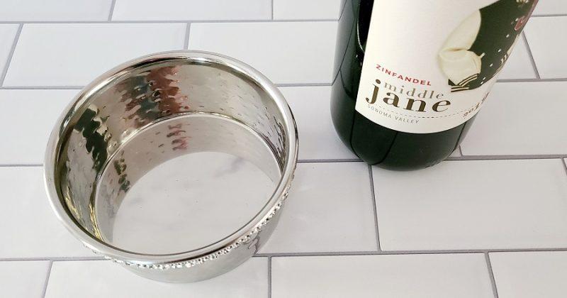 Stainless Steel Wine Bottle Coaster Steel Round