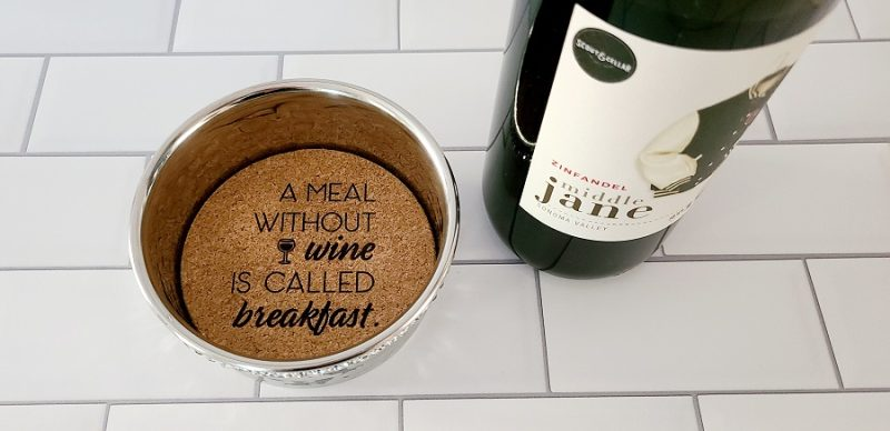 Stainless Steel Wine Bottle Coaster a Meal Without Wine